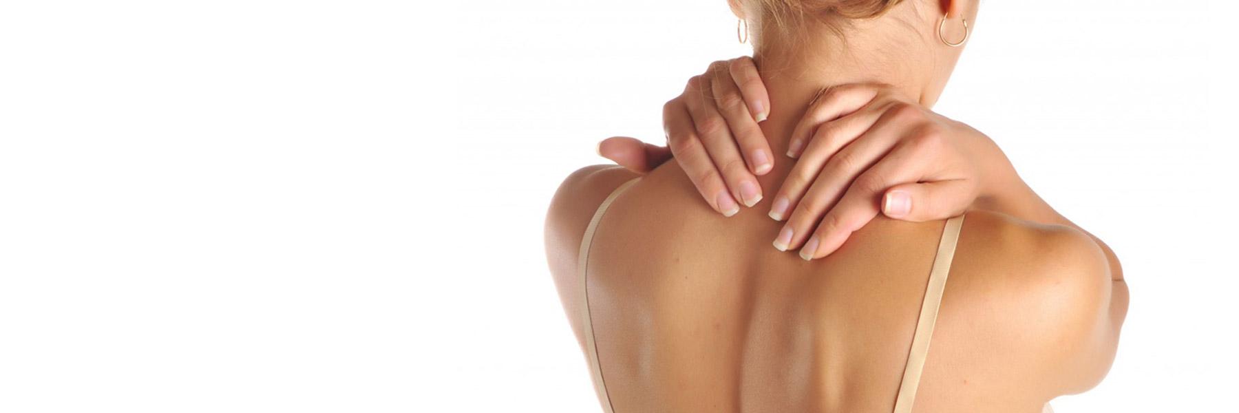Apparition d'une gène et d'une douleur localisées au niveau du cou